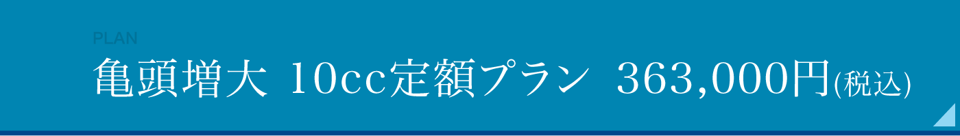 亀頭増大 10cc 定額プラン29万円(税別)